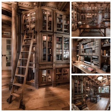 amazing home library    pieces  walnut