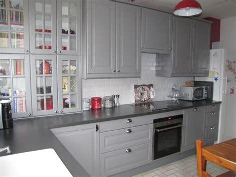 cuisine meubles gris meuble cuisine ikea gris cuisine en image
