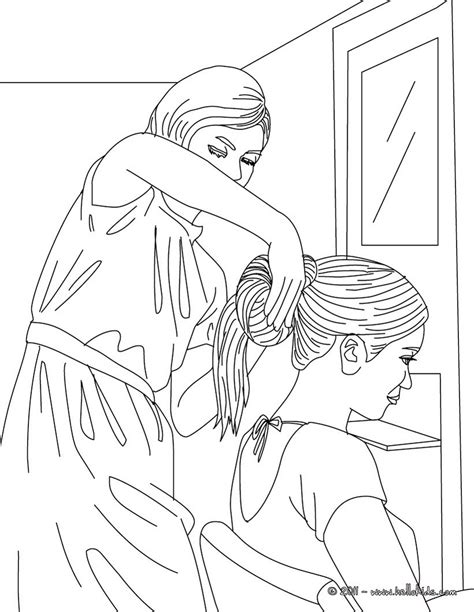 girl   hair    hairdresser coloring pages