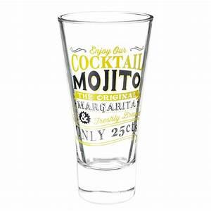 Verres à Vin Maison Du Monde : verre cocktail en verre jaune mojito maisons du monde ~ Teatrodelosmanantiales.com Idées de Décoration