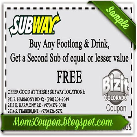 ways   coupons  subway  printable