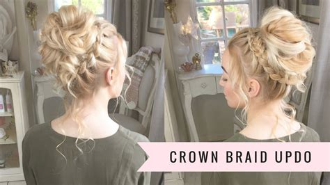 crown braid updo  sweethearts hair  video