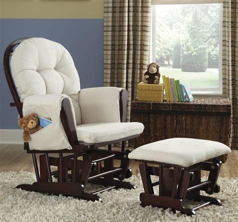 hoop custom upholstery glider and ottoman storkcraft cherry beige custom hoop upholstered glider and