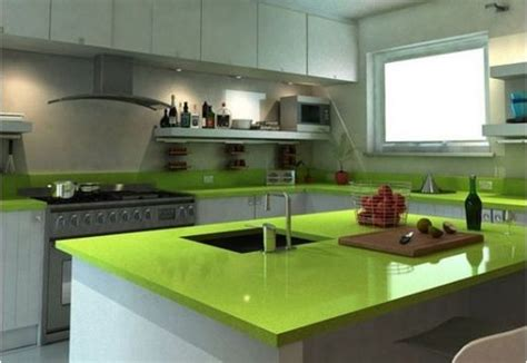 cute kitchen  simple white cabinets  lime green