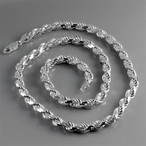 Solid Sterling Silver Diamond Cut Heavy Rope Chain 720mm. Gold Design Bracelet. Costume Jewelry Pendant. Discount Diamond Jewelry. Armstrong Bracelet. Style Bracelet. Sterling Silver Infinity Anklet. Gold Anklet Chains. Wedding Pearls