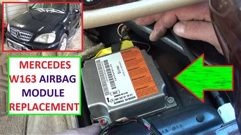 airbag module removal replacement  location mercedes