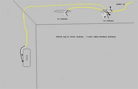 Wiring Recessed Lights by Wiring Two Recessed Lights With An End Run Switch