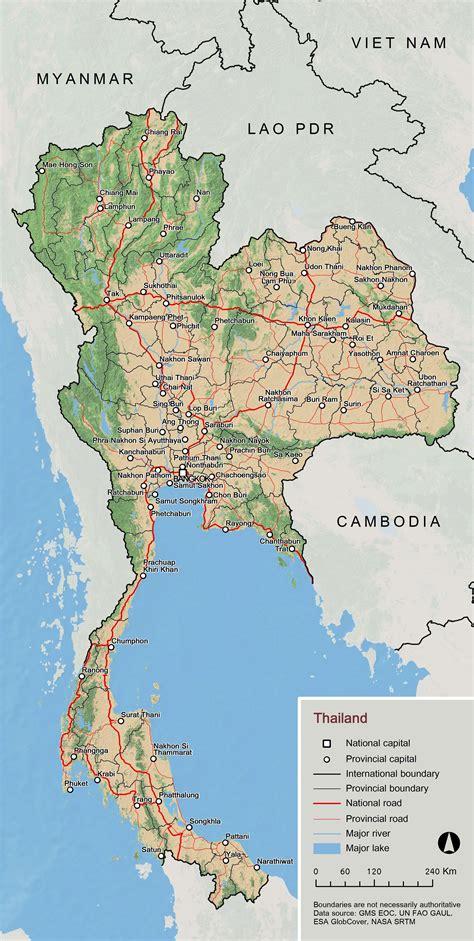 maps  thailand detailed map  thailand  english