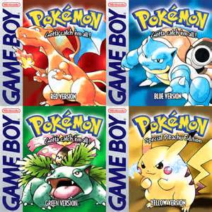 Pokemon Red Blue Green and Yellow Covers