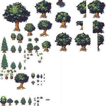 Tilesets Trees Plants Lots Pack Db32 Oga
