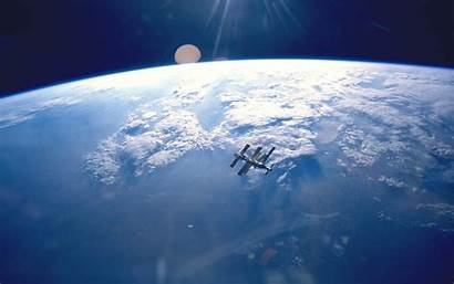 Space Mir Station Earth Desktop Backgrounds Wallpapers