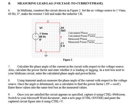 Solved Measuring Lead Lag Voltage Current Phase