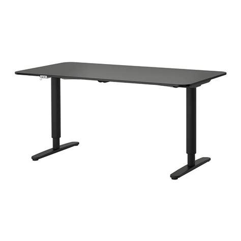 bekant sit stand desk bekant desk sit stand black brown black ikea