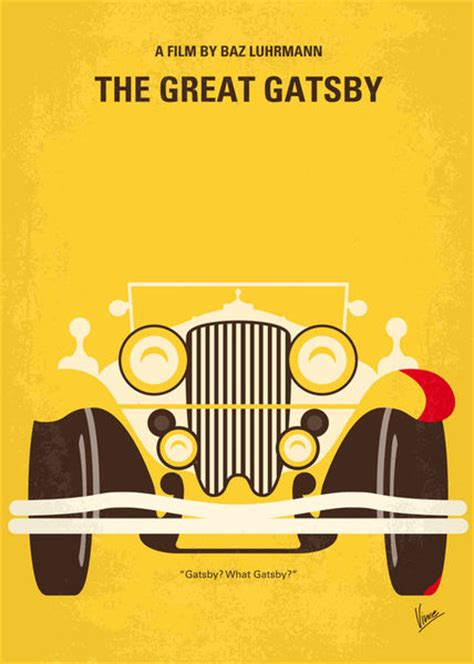 quot no206 my the great gatsby minimal poster quot graphic