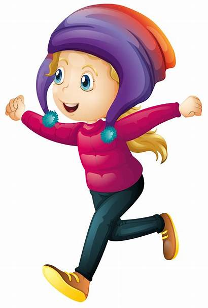 Winter Wearing Clothes Happy Vector Clipart Graphics