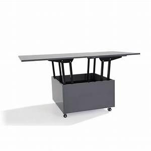 Table Extensible Grise : tables relevables tables et chaises table basse relevable extensible giani grise inside75 ~ Teatrodelosmanantiales.com Idées de Décoration
