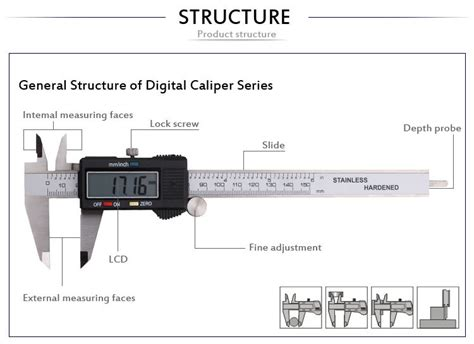 Diagram Of A Digital Caliper by Digital Precision Digital Depth Vernier Caliper Buy