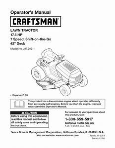 Craftsman Lawn Mower 28911 User Guide