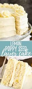 Lemon Poppy Seed Cake Recipe with Lemon Curd Frosting