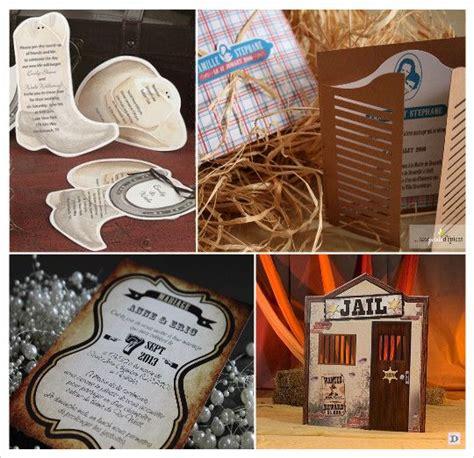 decoration mariage western faire part botte santiag porte