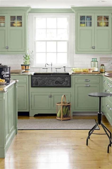 green kitchen cabinets design  ideas inspiration