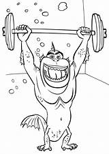 Strong Coloring Pages Man Strongman sketch template