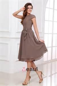 robe jaune pour mariage col rond simples tirette genou robe demoiselles d 39 honneur pour mariage 211505009 veaul