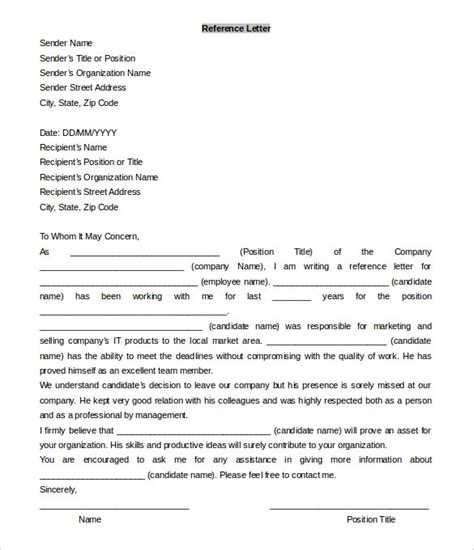 reference template word 42 reference letter templates pdf doc free premium templates