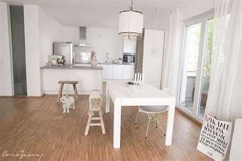 offene küche wohnzimmer ideen kueche ideen weiss graue betonarbeitsplatte esszimmer k 252 chen ideen wei 223 offene k 252 che