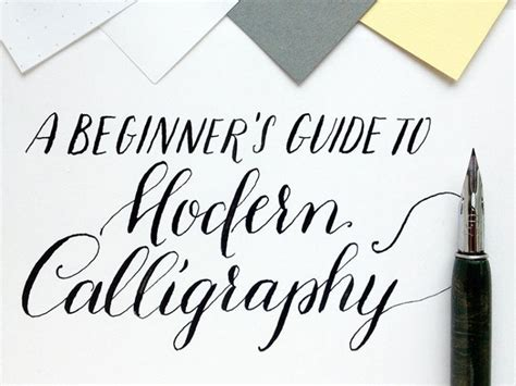 A Beginner's Guide To Modern Calligraphy  Craft And Diy Projects  Calligraphy, Calligraphy