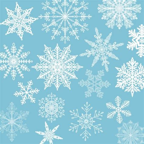 Blue Snowflake Background Clipart by Free Printable Borders And Backgrounds Snowflake Winter