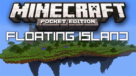 floating island seed minecraft pocket edition youtube