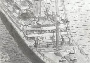 Images For > The Titanic Sinking Drawing | RMS Titanic ...