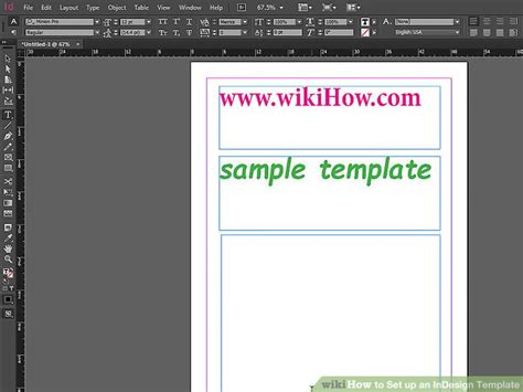 set   indesign template  steps  pictures