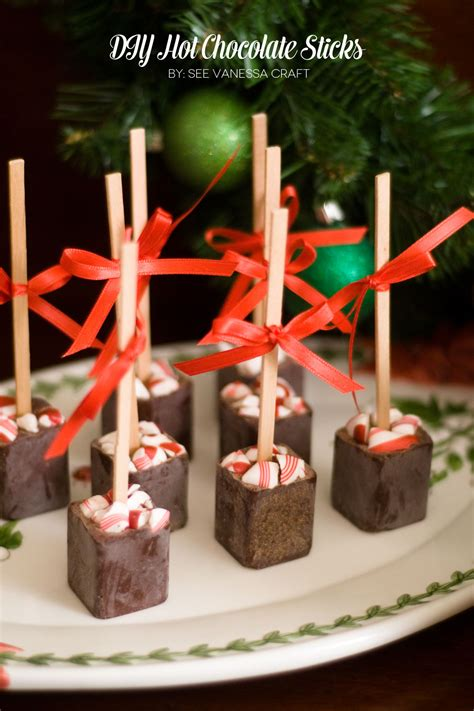 (handmade Holiday Party) Diy Hot Chocolate On A Stick