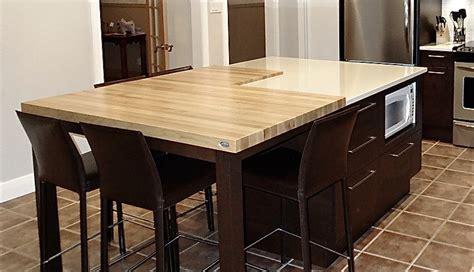 dessus de cuisine comptoirs en bois signature stéphane dion