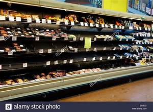 Empty grocery store shelves due to supply chain disruption ...