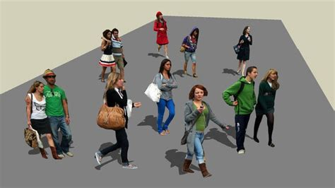 sketchup components  warehouse people   street