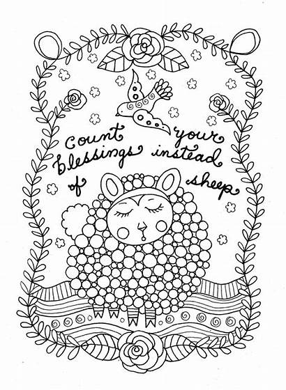 Coloring Printable Pages Adult Sheep Christian Count