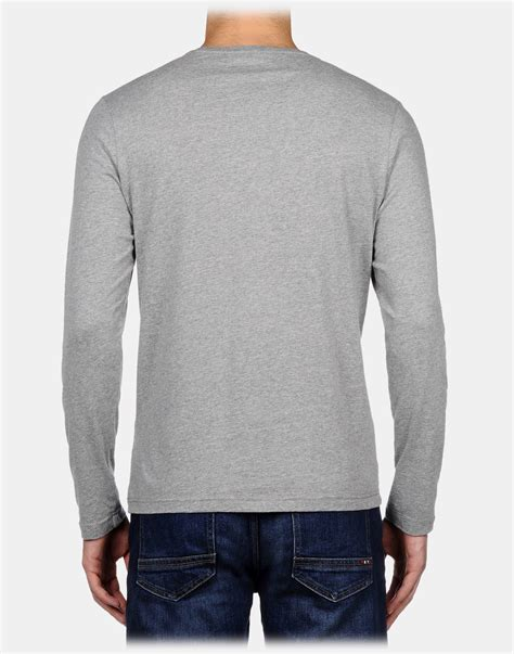 remain in light t shirt napapijri long sleeve t shirt in gray for men lyst