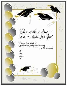 40 free graduation invitation templates template lab for Graduation invites templates