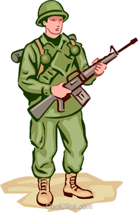 Soldier Clipart Soldier Royalty Free Vector Clip Illustration