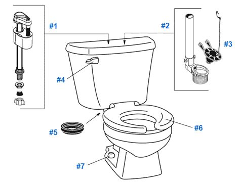 Repair & Replacement Parts For Crane Baby Bowl Toilets