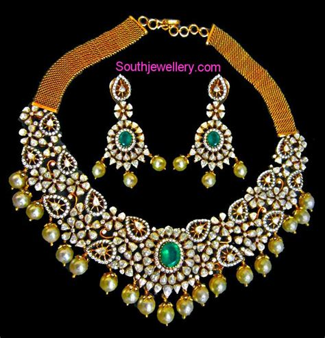 Stunning Rose Cut Diamond Necklace Set  Jewellery Designs. Identity Bangles. Nepal Bangles. Bagal Bangles. One Sovereign Bangles. Studded Bangles. Hathi Bangles. Man 2018 Bangles. Golden Wedding Bangles