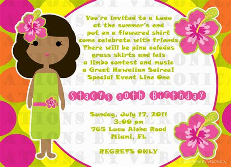 a birthday invitation 20 luau birthday invitations designs birthday party
