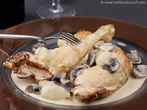 Cuisse De Poulet A La Poele : cuisses de poulet la cr me fiche recette illustr e ~ Mglfilm.com Idées de Décoration