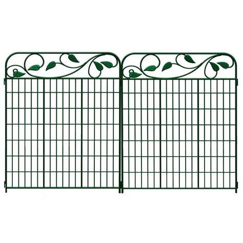 lowes garden fencing 44 x 71 decorative leaf design garden fence panel green on