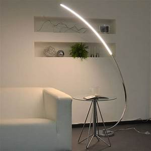 Stehlampen Led Dimmbar : licht trend stehleuchte led mit gebogenem arm otto ~ Orissabook.com Haus und Dekorationen