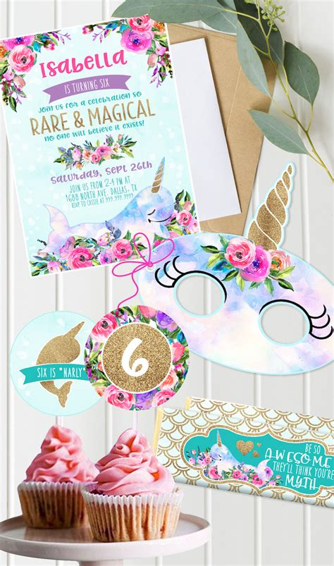 magical unicorn birthday party birthday party kara 39 s party ideas magical narwhal quot unicorn of the sea