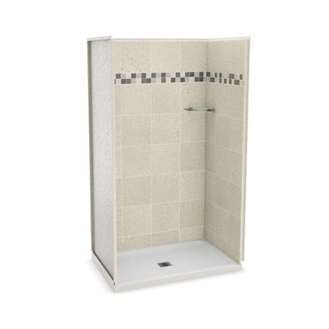 Shower Stall Kits Canada by Maax Utile 48 In Stone Sahara Alcove Shower Kit The